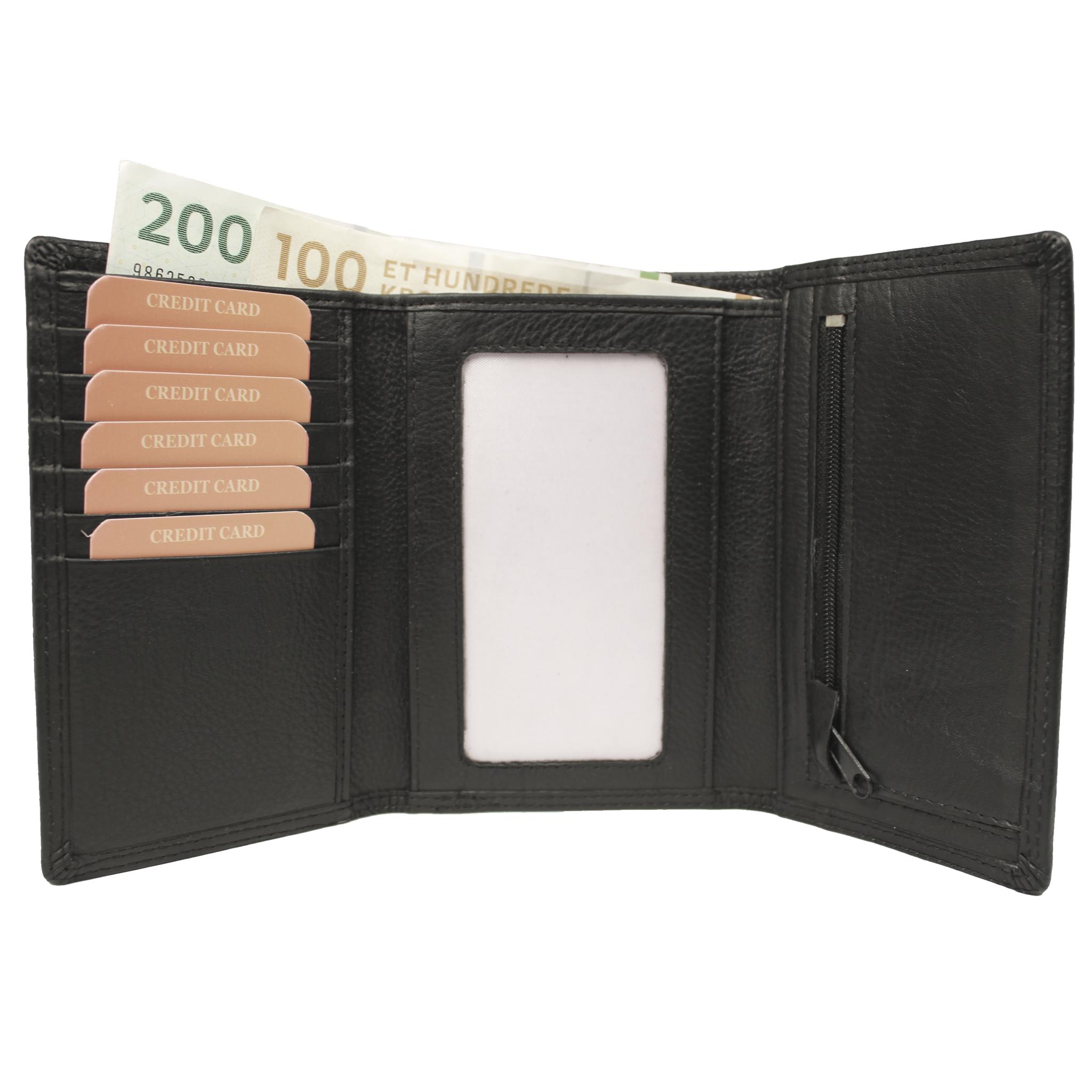 3 fløjet tegnebog